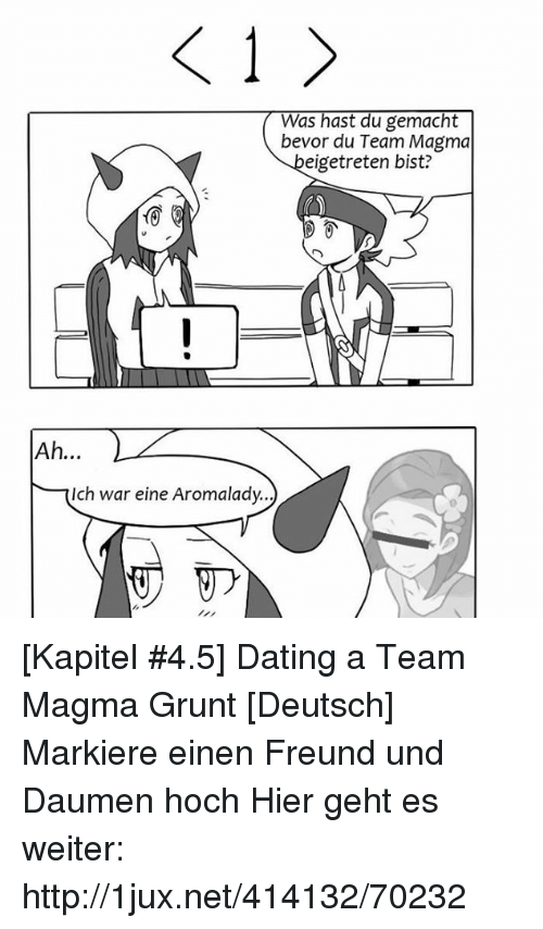 Dating a team magma grunt 8