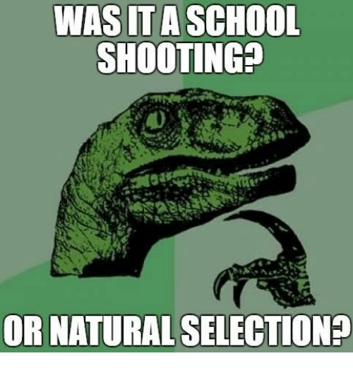 was ita school shooting or natural selection 18767244 was ita school shooting or natural selection? school meme on me me