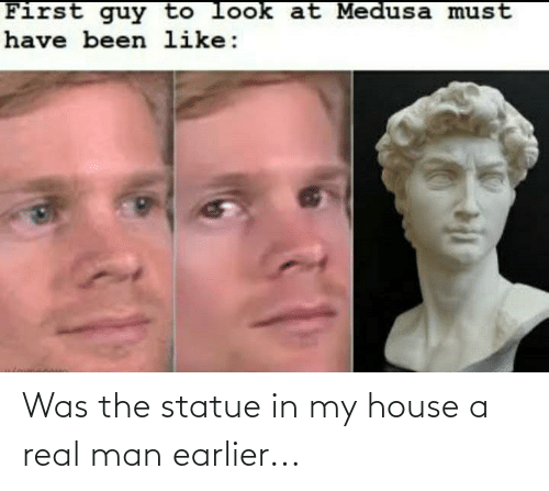 Funny, My House, and House: Was the statue in my house a real man earlier...