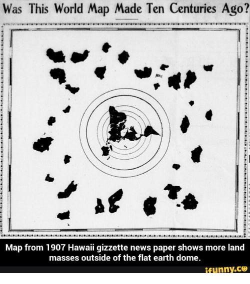 Was This World Map Made Ten Centuries Ago? Map From 1907 Hawaii