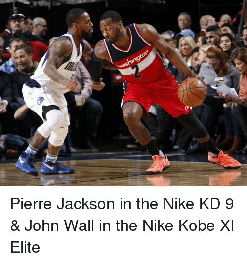 065a8764673c Washingto Pierre Jackson in the Nike KD 9   John Wall in the Nike ...