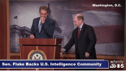 Community, Memes, and 🤖: Washington, D.C.  D ST  azfamily  Sen. Flake Backs U.S. Intelligence Community