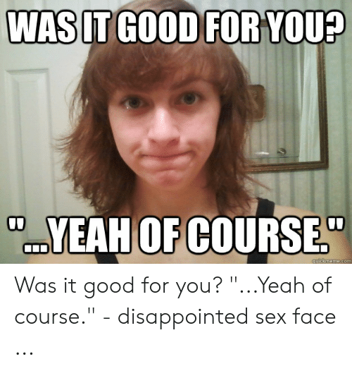 disappointed sex