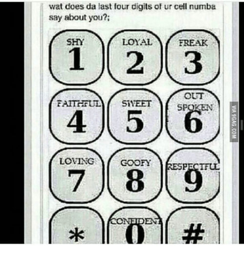 Wat Does Da Last Four Digits of Ur Cell Numba Say About You