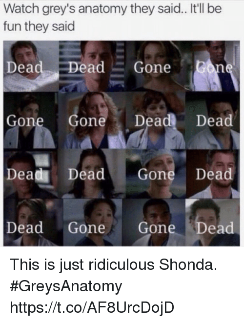 Watch Grey\'s Anatomy They Said It\'ll Be Fun They Said Dead Dead Gone ...