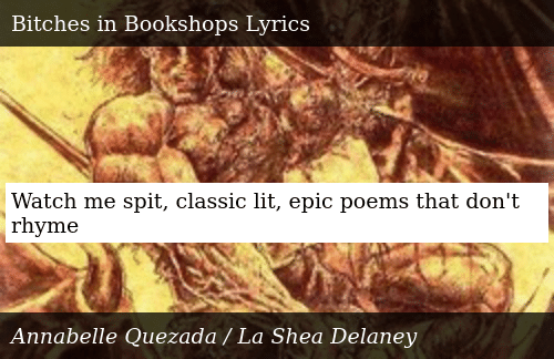 Watch Me Spit Classic Lit Epic Poems That Don't Rhyme