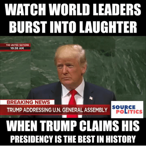 WATCH WORLD LEADERS BURST INTO LAUGHTER THE UNITED NATIONS 1038 AM ...