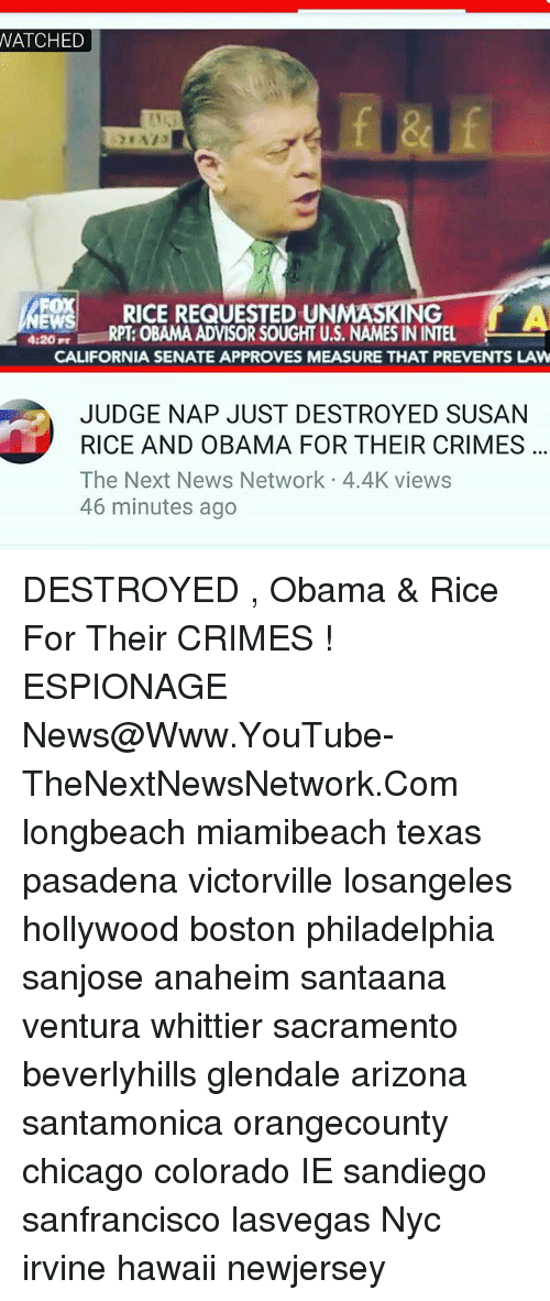 WATCHED RICE REQUESTED UN a RPT OBAMA ADVISORSOUGHT US NAMES