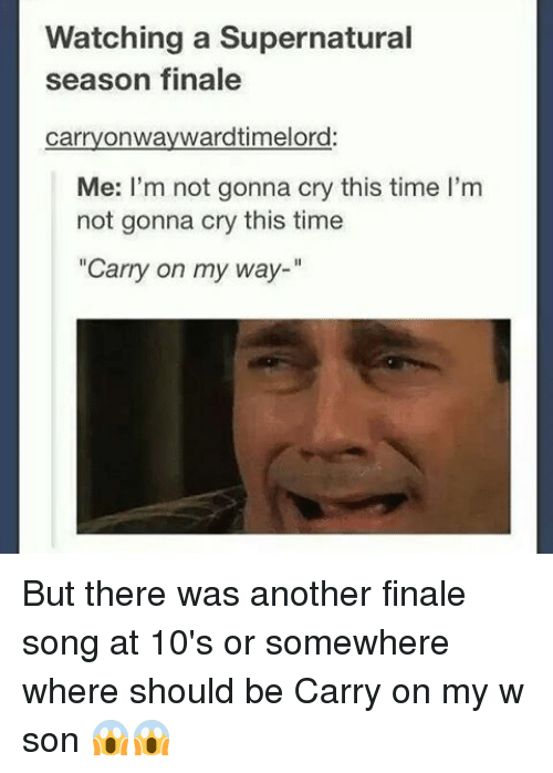 Watching a Supernatural Season Finale Carry