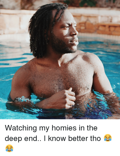 Memes, 🤖, and Deep: Watching my homies in the deep end.. I know better tho 😂😂