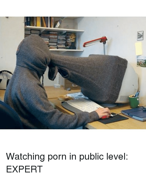 Think, watching porn in public