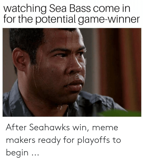 Meme, Game, and Seahawks: watching Sea Bass come in  for the potential game-winner After Seahawks win, meme makers ready for playoffs to begin ...