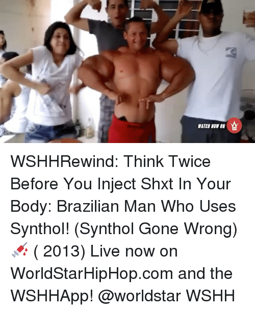 WATER NOW WSHHRewind Think Twice Before You Inject Shxt in Your Body