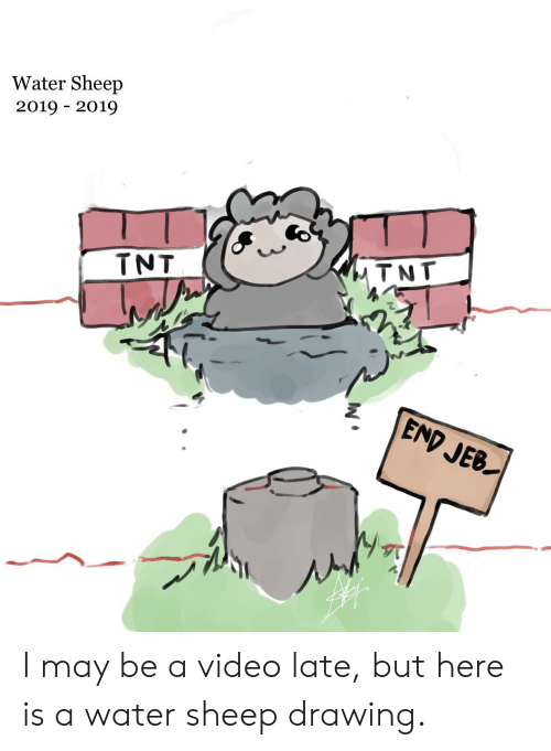 Video, Water, and Tnt: Water Sheep  2019 2019  MTNT  TNT  END JEB  W I may be a video late, but here is a water sheep drawing.
