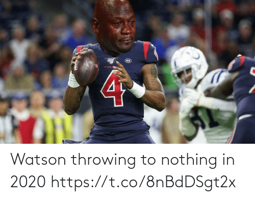 Watson, Nothing, and Throwing: Watson throwing to nothing in 2020 https://t.co/8nBdDSgt2x