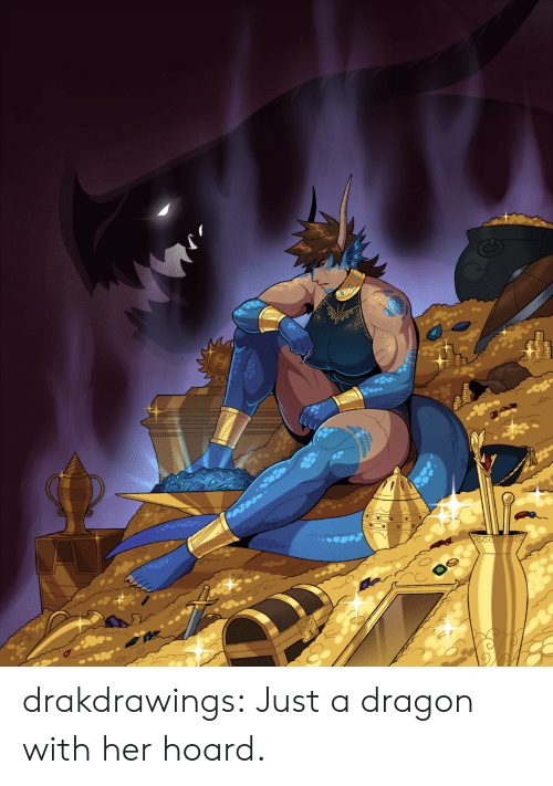 Tumblr, Blog, and Dragon: WAVA  eece drakdrawings:  Just a dragon with her hoard.