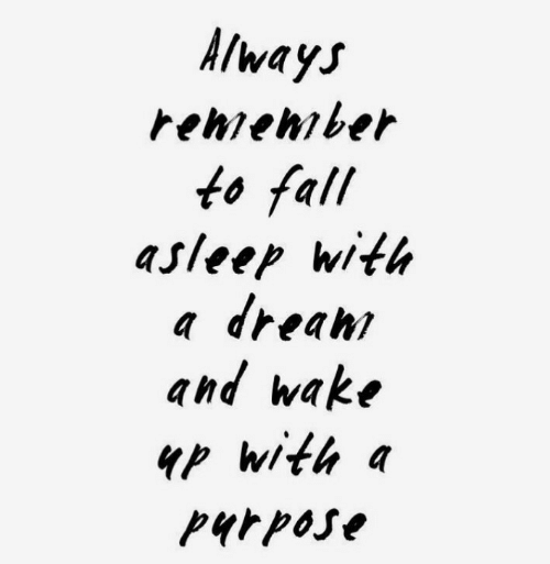 Fall, Wake, and Wake Up: /wayj  renenrber  fo fall  asleep with  a dreanr  and wake  up with  purpose