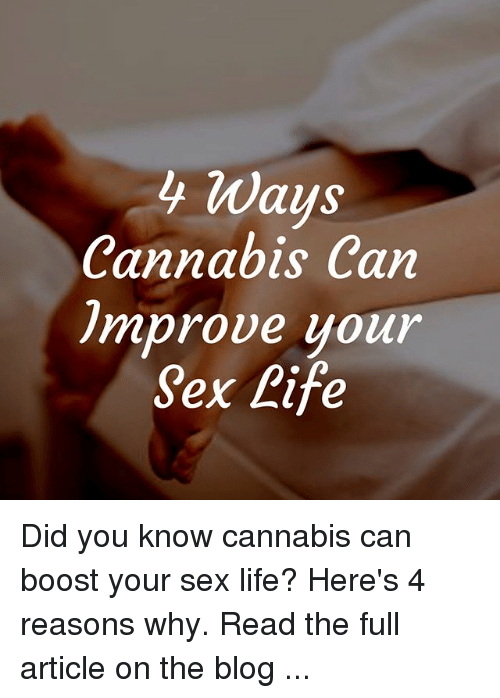 Ways to improve your sex life