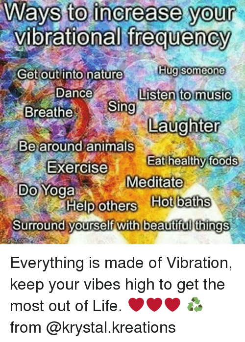 increase your vibration