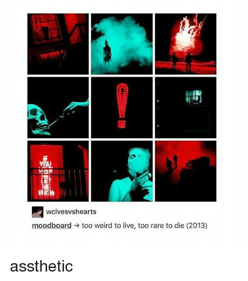 wclvesvshearts moodboard too weird to live too rare to die 2013