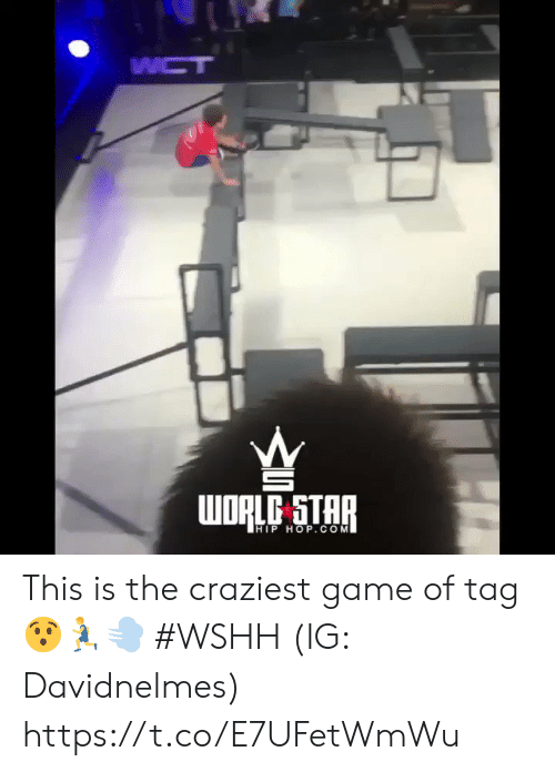 Wshh, Game, and Star: WCT  WORLC STAR  HIP HOP.COM This is the craziest game of tag 😯🏃‍♂️💨 #WSHH (IG: Davidnelmes) https://t.co/E7UFetWmWu