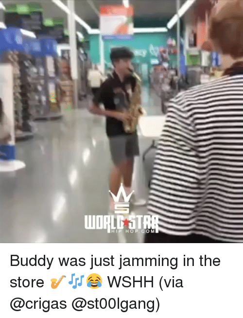 Memes, Wshh, and Hip Hop: WDRLT STR  HIP HOP. COM Buddy was just jamming in the store 🎷🎶😂 WSHH (via @crigas @st00lgang)