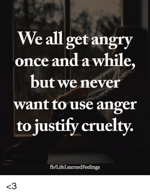 why we get angry
