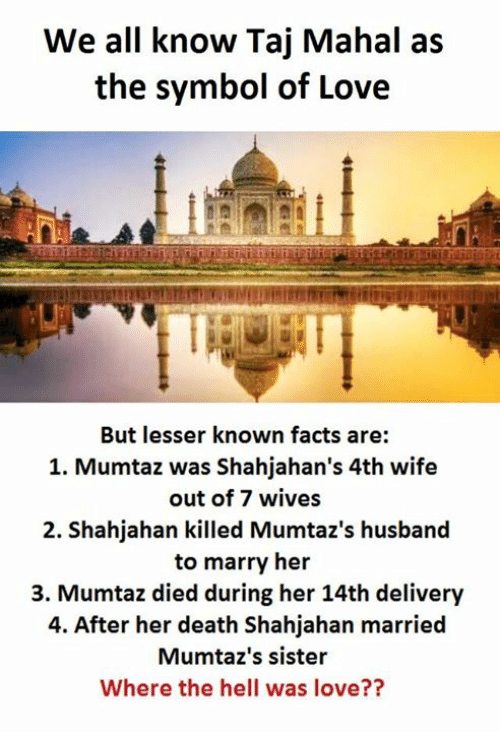 We All Know Taj Mahal As The Symbol Of Love But Lesser Known Facts
