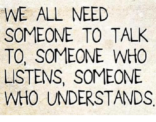 somebody to talk to