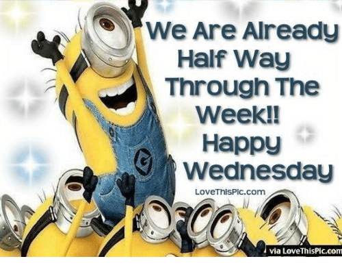 Memes, Wednesday, and 🤖: We Are Already  Half Way  Through The  Week!!  Happy  Wednesday  LoveThisPic. Com  via LoveThisPic.com