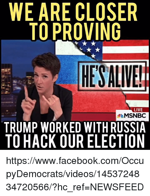 WE ARE CLOSER TO PROVING HESALIVE! LIVE MSNBC TRUMP WORKED