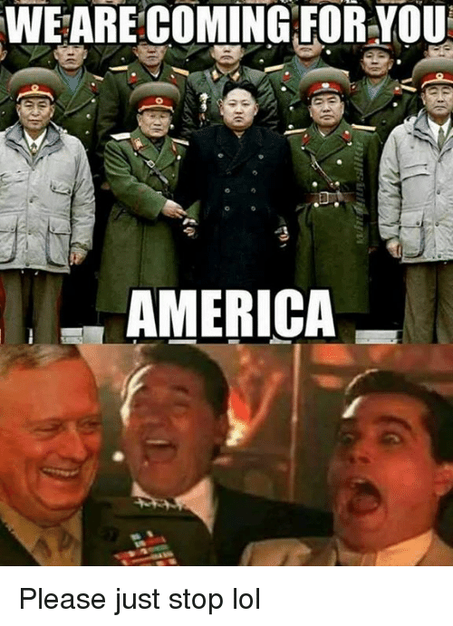 America, Lol, and Memes: WE ARE COMING:FOR YOU  AMERICA Please just stop lol