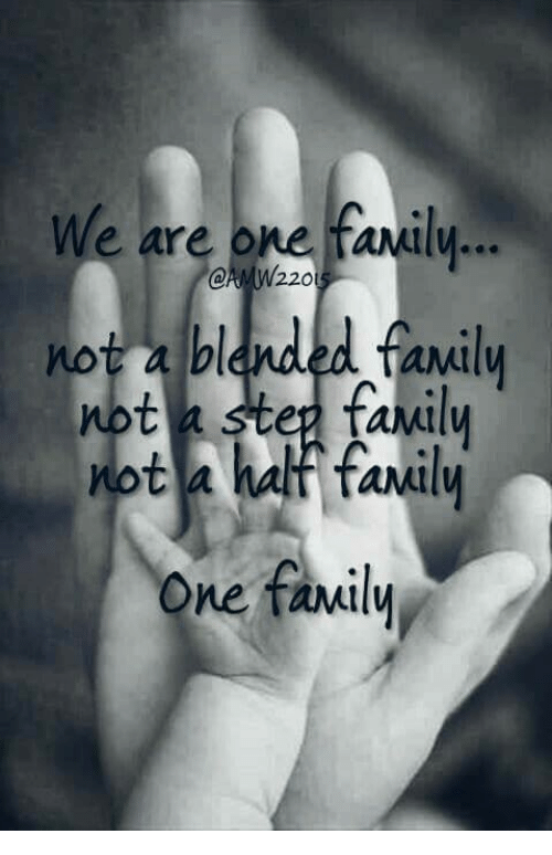 We Are One Family 220 Not A Blended Family Not A Step