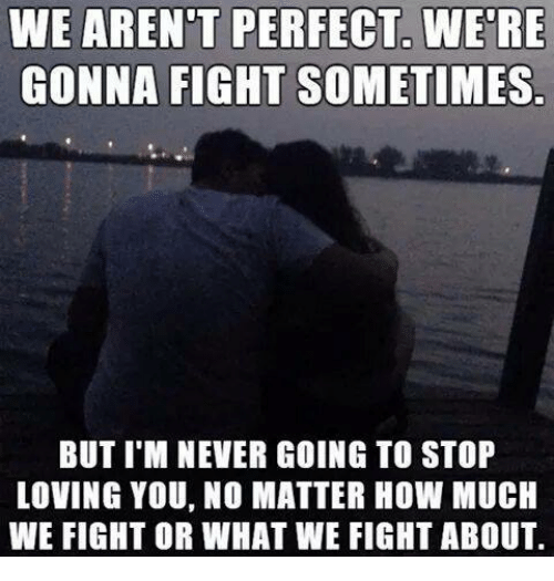 We Arent Perfect Were Gonna Fight Sometimes But I M Never Going To
