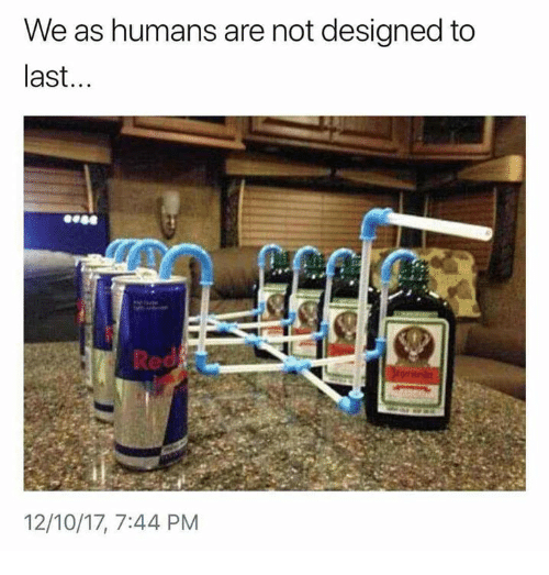 Humans of Tumblr, Red, and Humans: We as humans are not designed to  last...  Red  12/10/17, 7:44 PM