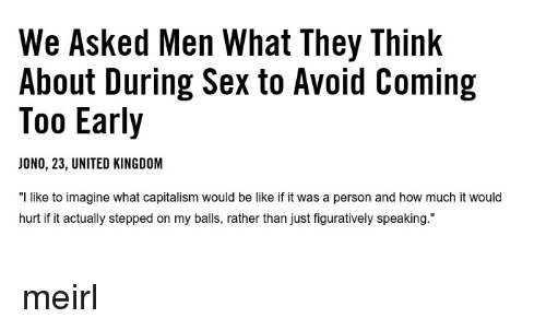 What men think about when having sex