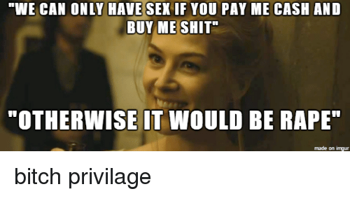 Pay me with sex
