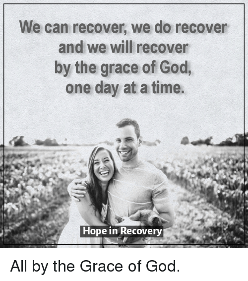 We Can Recover We Do Recover and We Will Recover by the