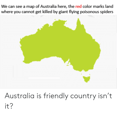 Giant Map Of Australia.We Can See A Map Of Australia Here The Red Color Marks Land Where