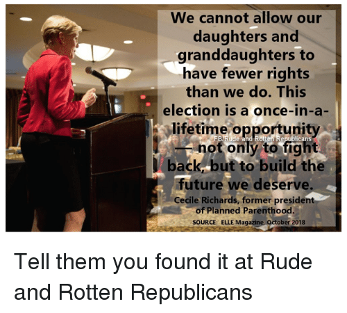 We Cannot Allow Our Daughters and Granddaughters to Have