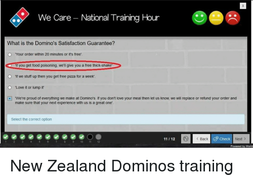 We Care - NationalTraining Hour What Is the Domino's