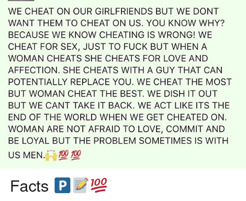 why women cheat on men they love