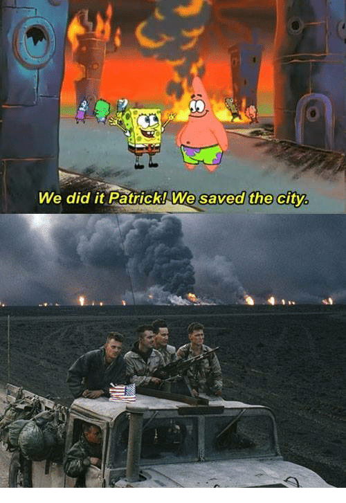 we did it patrick we saved the city 1280067 we did it patrick we saved the city citi meme on me me