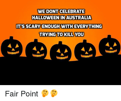halloween memes and australia we dont celebrate halloween in australia its scary enough