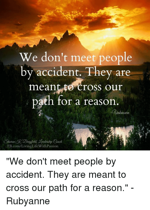 meet people for a reason meme