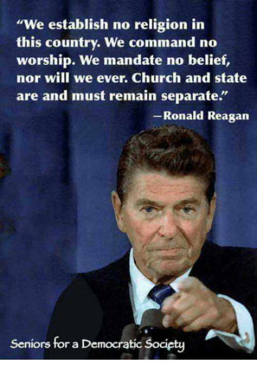 We Establish No Religion in This Country We Command No