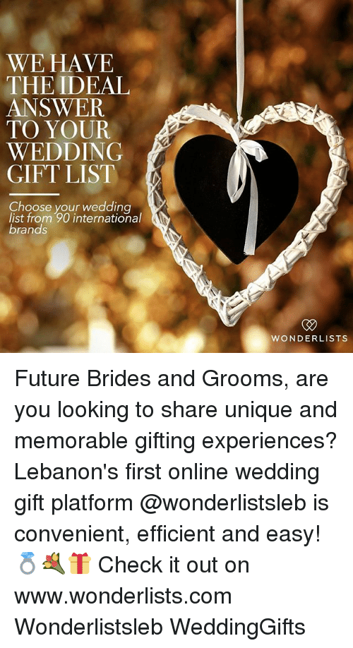 Future Memes And Wedding We Have The Ideal Answer To Your Gift