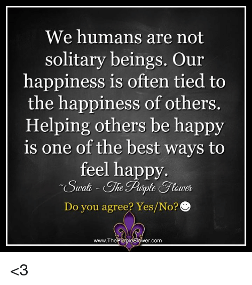 solitary happiness