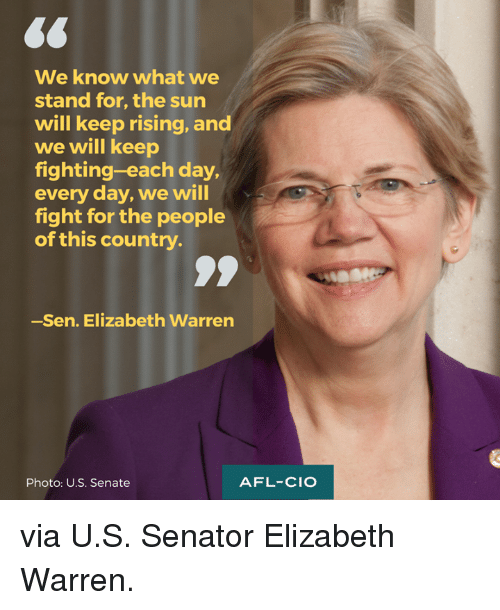 Elizabeth Warren Memes And  F F A  We Know What We Stand For The