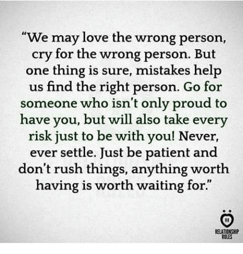 Settling for someone you don t love